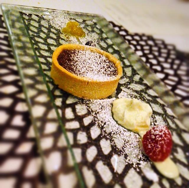 Garibaldi chocolate tart