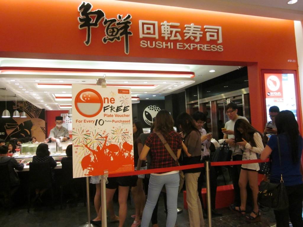 Sushi Express Long Queue