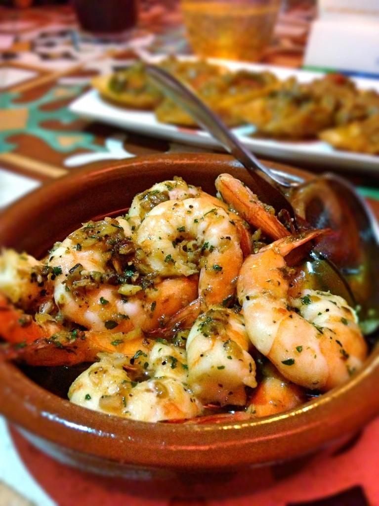 Octapas garlic prawn