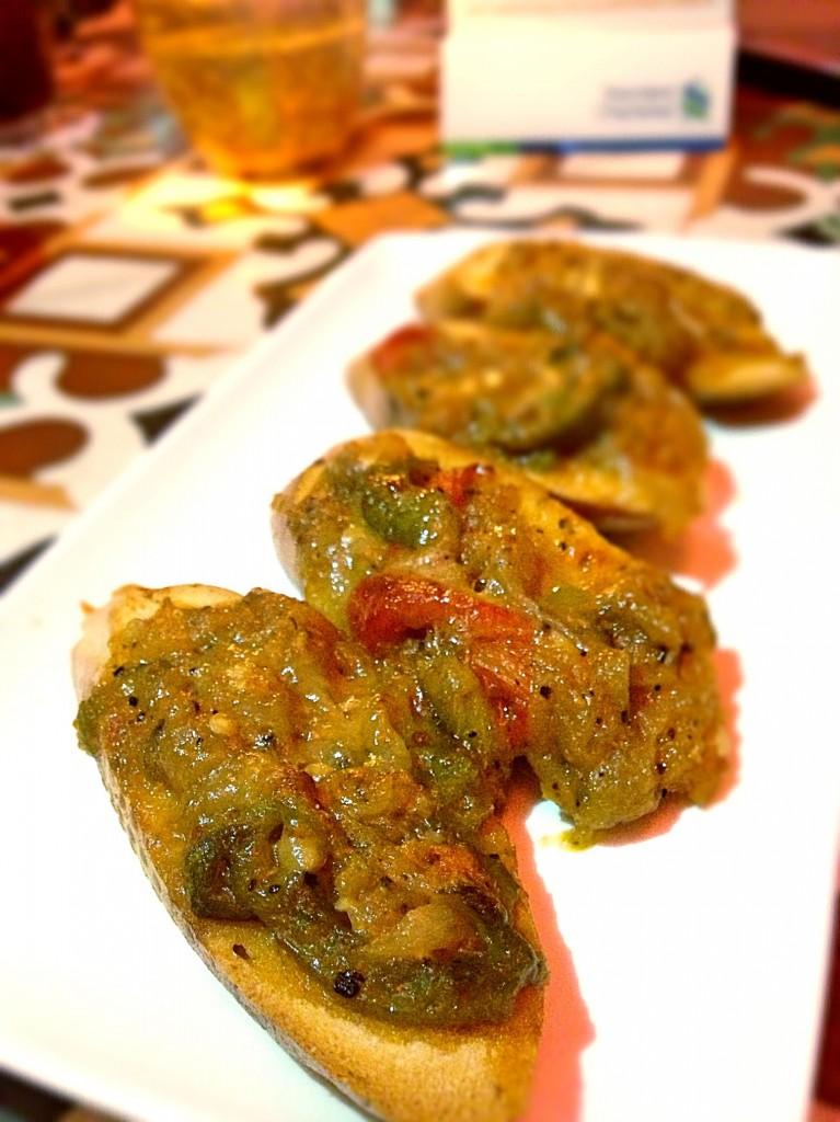 Octapas spanish tapas bar Aubergine tostadas