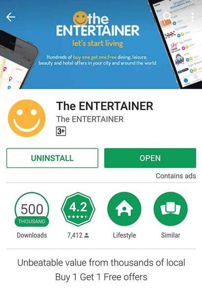 entertainer 2017 App store