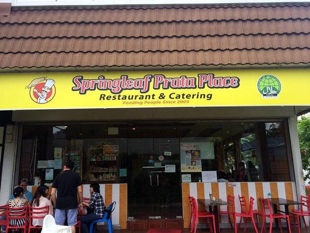 Best breakfast places singapore - springleaf prata place