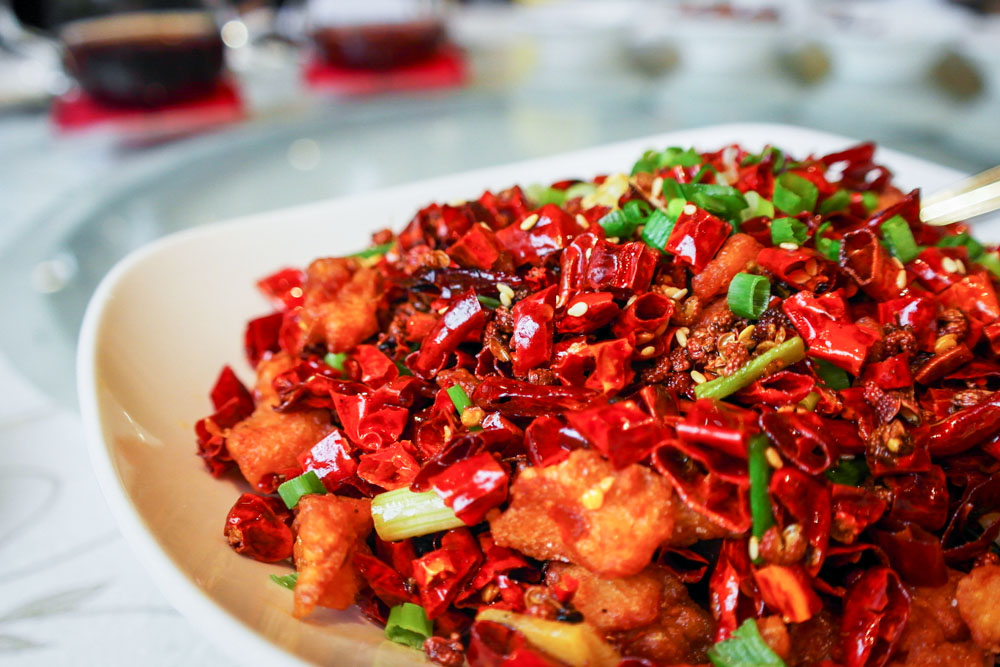si chuan dou hua Diced Chicken with Dried Chili 重庆辣子鸡
