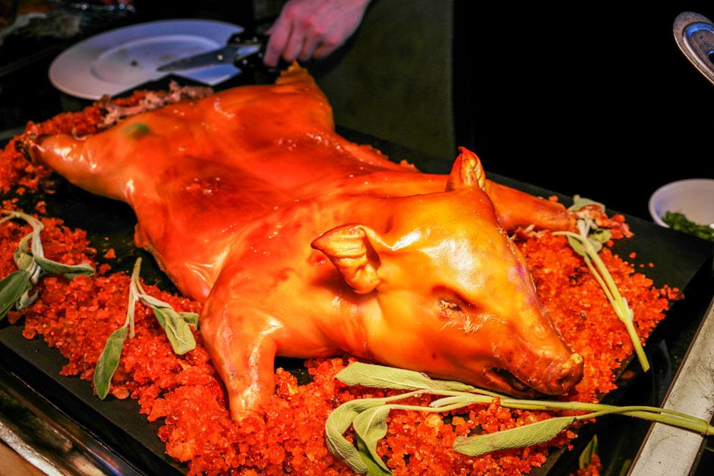 the knolls buffet suckling pig
