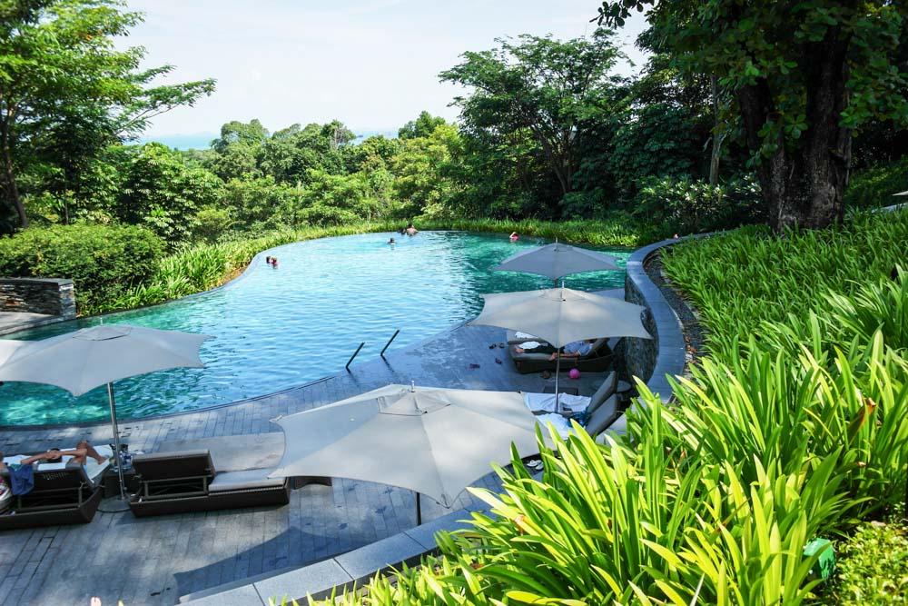 the knolls swimming pool sentosa capella