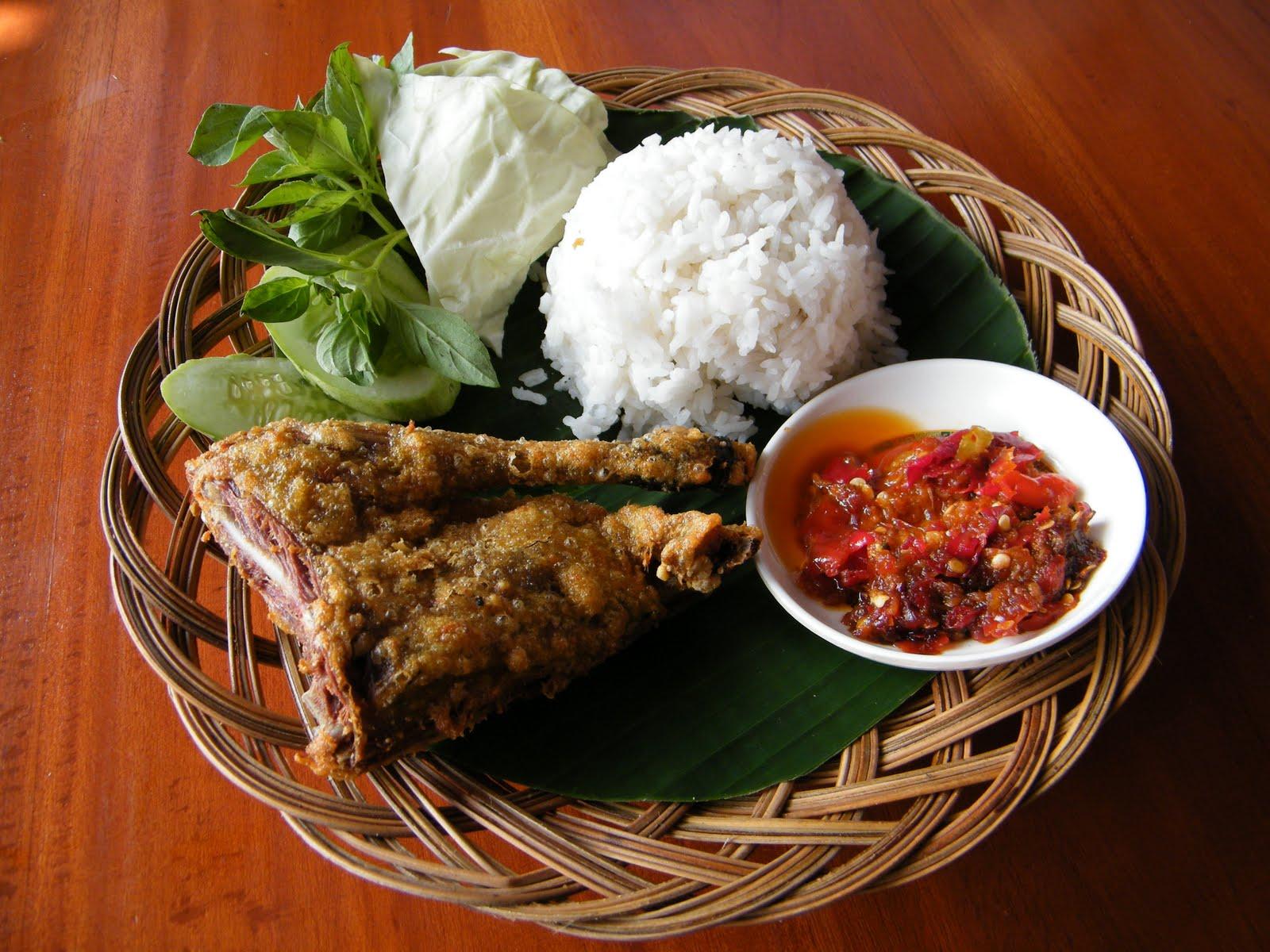 bebek goreng indonesian food