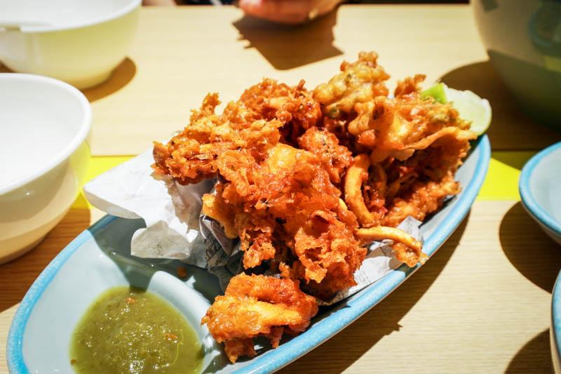 comnam broken rice Crispy Squid