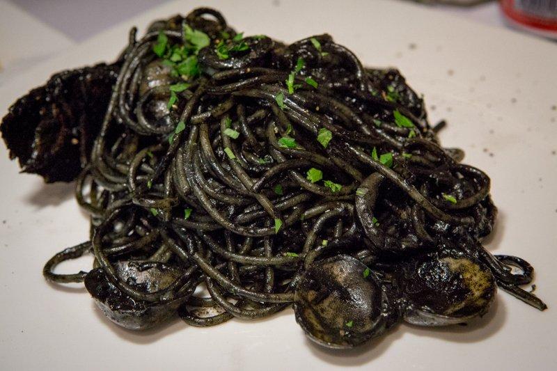 Spaghetti Della Pescatrice squid ink pasta brava best italian restaurants