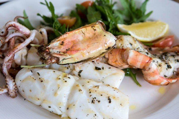 large prawn and calamari bella pasta singapore