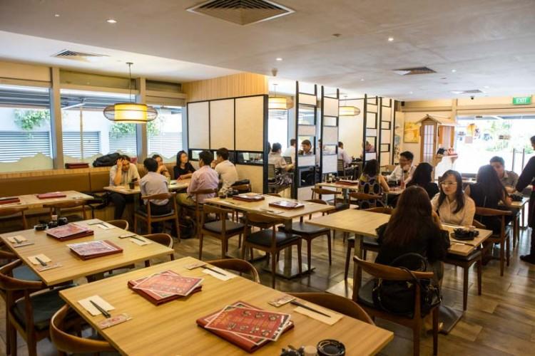 Mikawa  japanese restaurant singapore interior