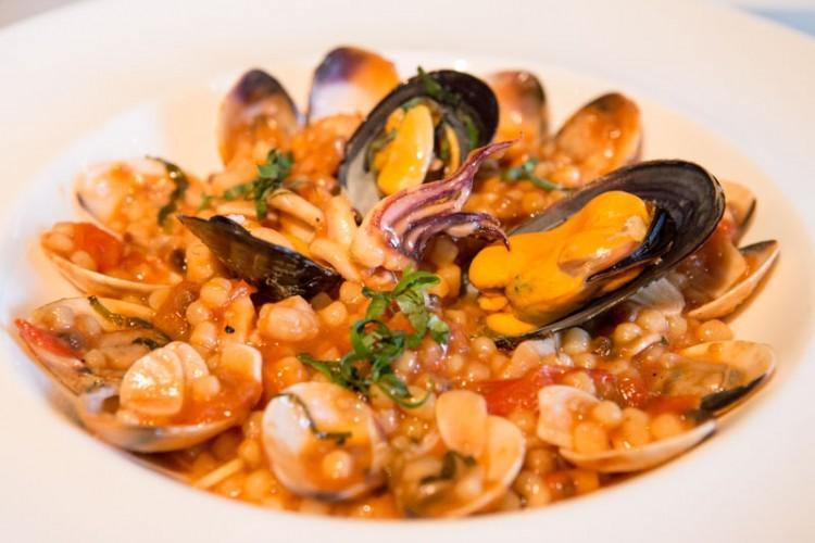 alkaff mansion Sardinian Fregola with Assorted Seafood