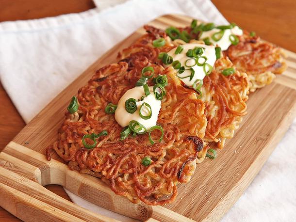 instant noodle hack fritters