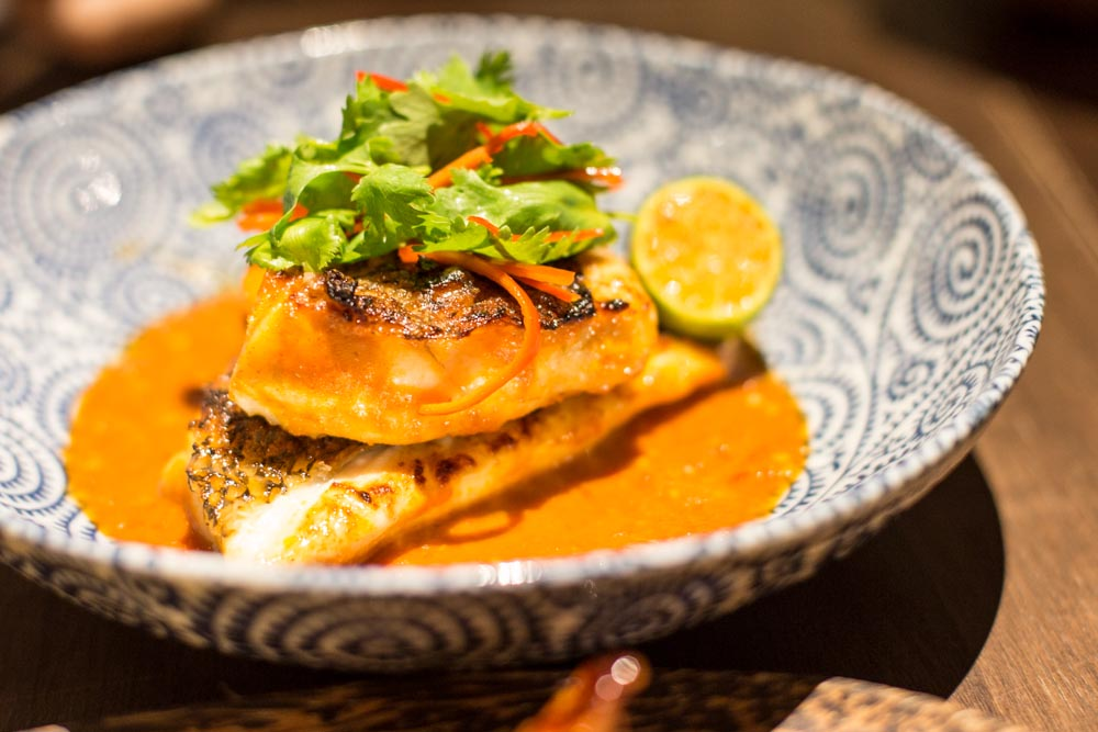 candlenut peranakan singapore Coconut Charcoal Grilled Wild Snapper