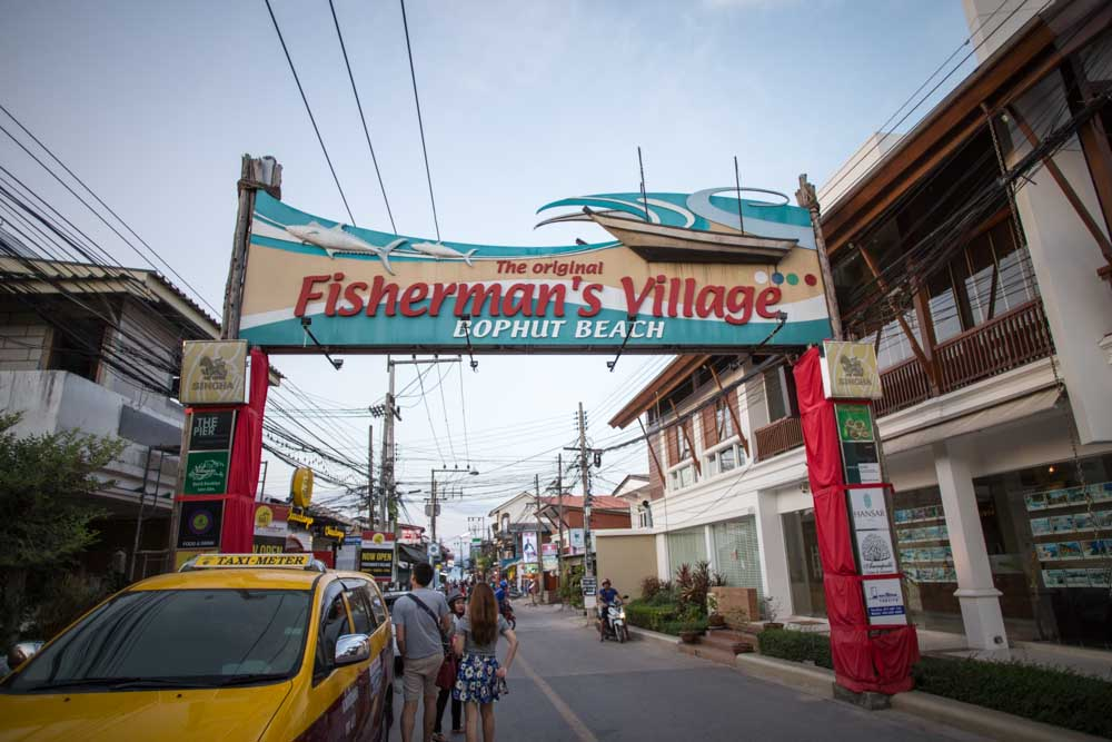 things to do koh samui fisherman's village bophut beach