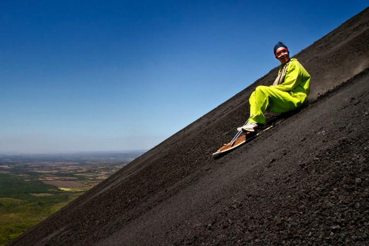 Nicaragua volcano surfing boarding