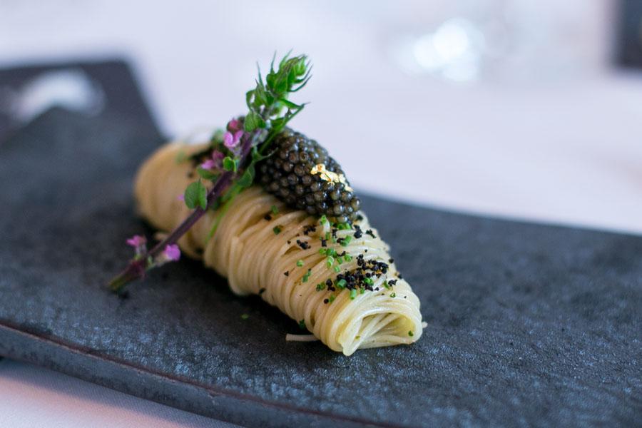 les amis singapore caviar angel hair pasta