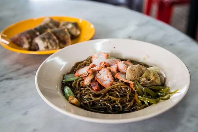 penang street food wanton mee