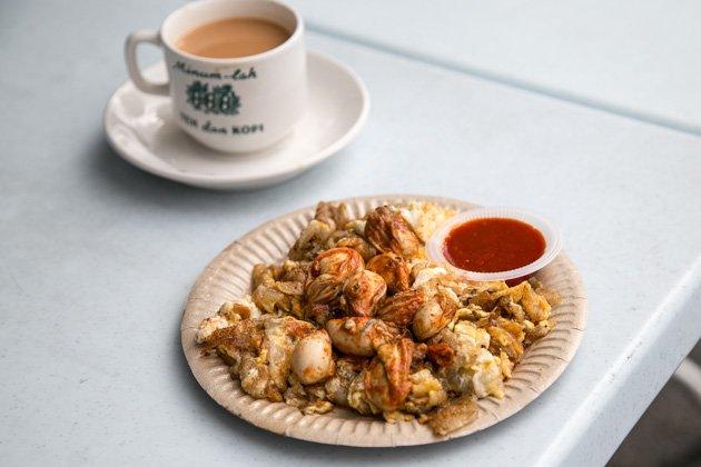 penang street food fried oyster omelette