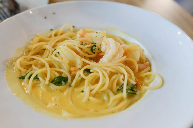 The Usual Place salted egg prawn pasta