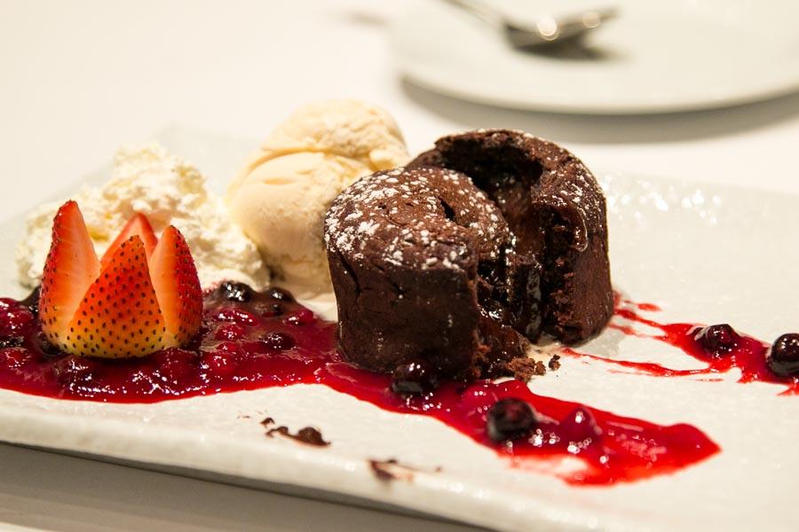 new york steakhouse bangkok chocolate lava cake