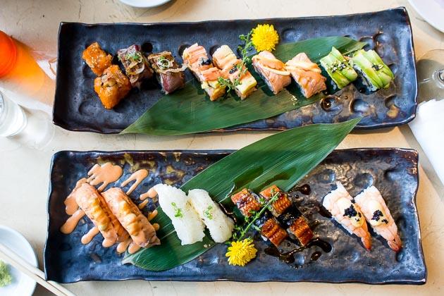 Tsu Nami Brunch - sushi rolls