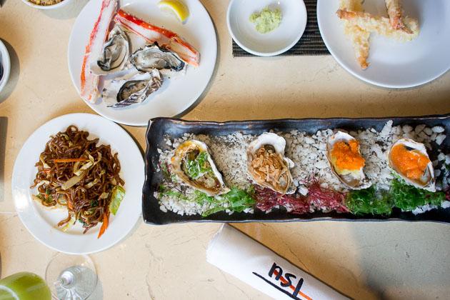 Tsu Nami Brunch - oysters