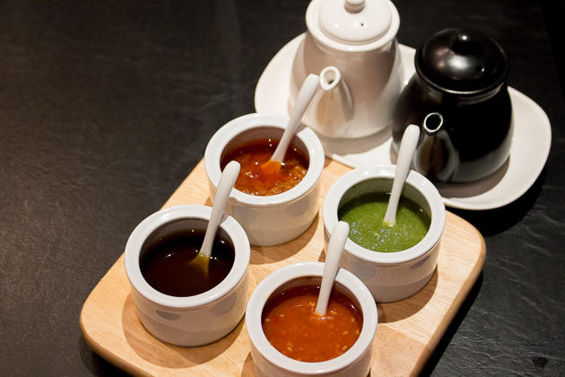Ping's Hotpot - chili sauces