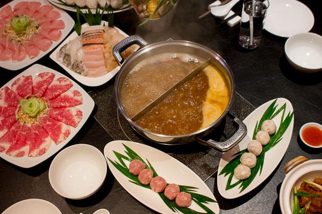 Ping's Hotpot - shrimp and pork balls