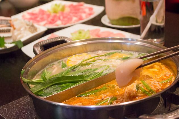 Ping's Hotpot - tom yam broth