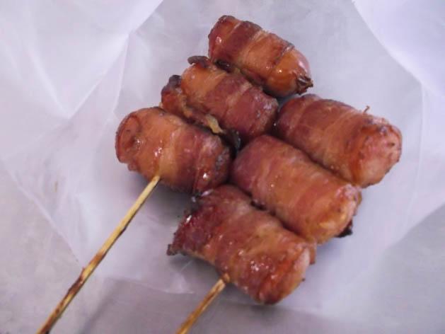 best foods to eat chcoa chu kang Bacon pork sausage