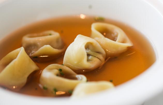 Zafferano Pasta - Prosciutto Mortadella Brodo di Pollo