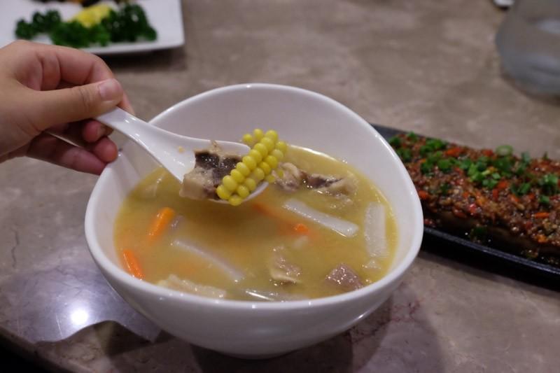Stewed Beef Brisket with Vegetables in Pork Bone Soup