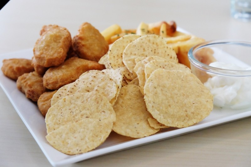 Meat and Chill Nuggets and Nachos