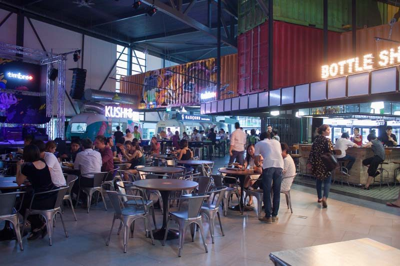 timbre singapore a container foodpark so cool it doesn 39 t even need air con. Black Bedroom Furniture Sets. Home Design Ideas