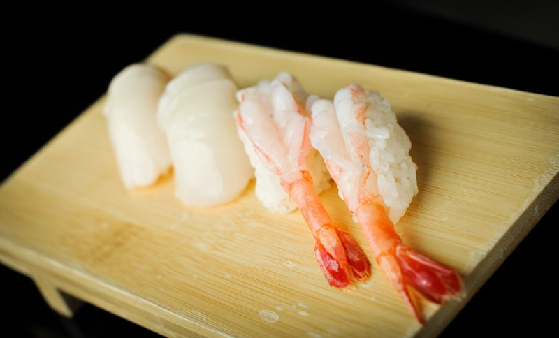 Kinki Sweet Prawn and Hokkaido Scallop Sushi