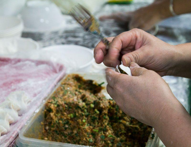 Shanghainese Food Kim Fong shui jiao making