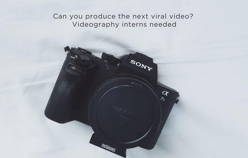 videography internship singapore production