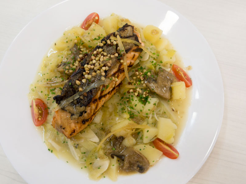 Flambe - Grilled Salmon