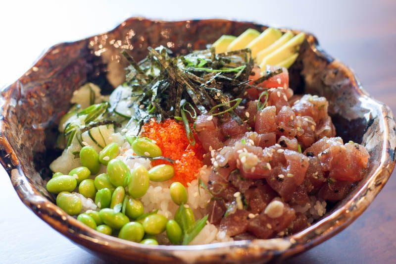 ash & char tuna poke bowl