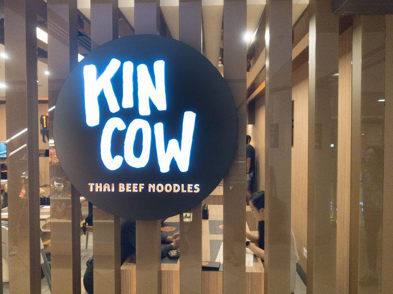 Kin Cow Thai Beef Noodles - Signage