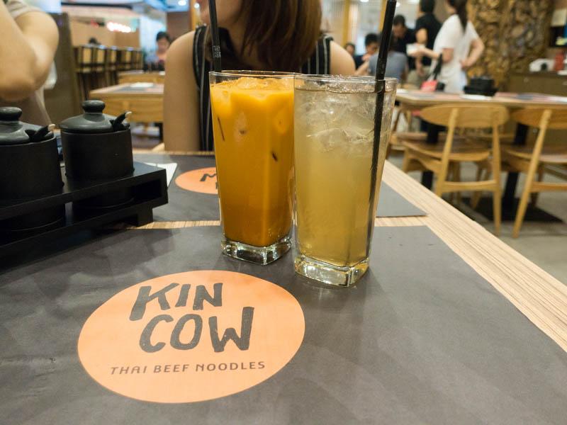 Kin Cow Thai Beef Noodles - Thai Milk Tea & Fresh Lemongrass Tea