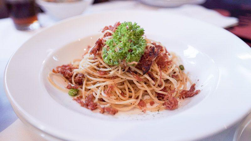 Greyhound corned beef pasta