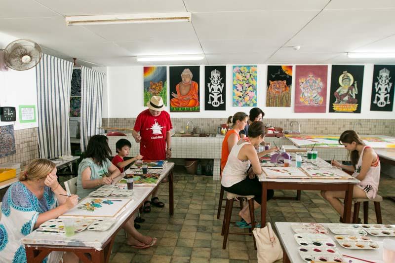 Club Med Cherating Beach - Batik Painting