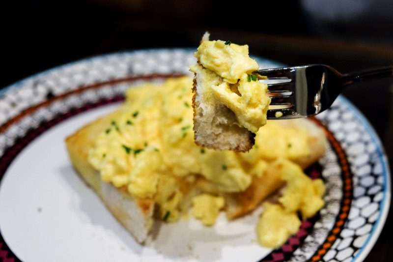 Tai cheong bakery scrambled eggs toast stack