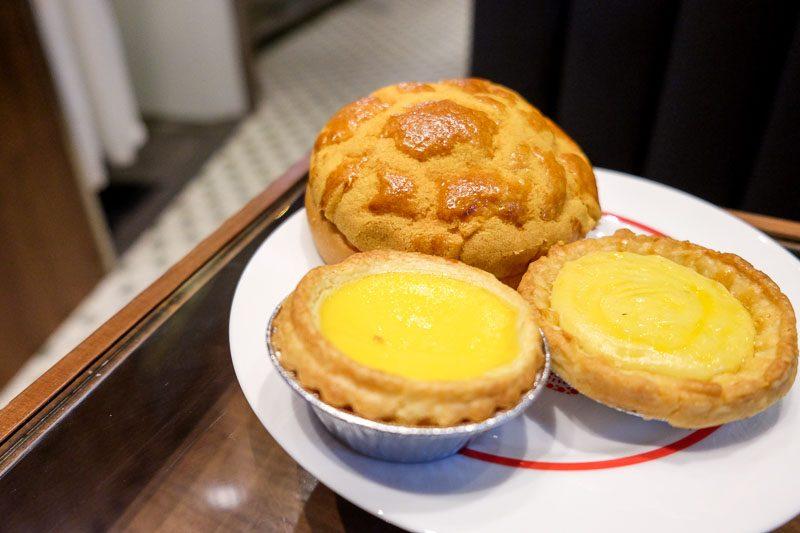 Tai cheong bakery tarts and buns