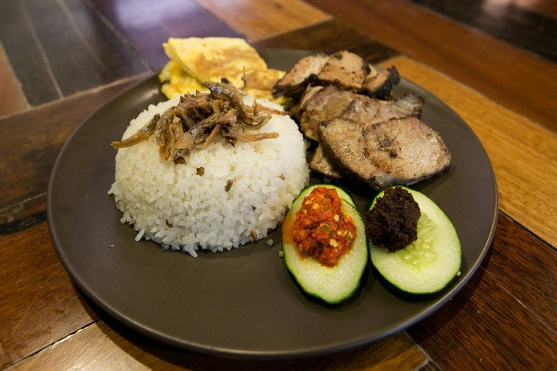 Revolution Coffee - Nasi Lemak with 5 Spice Pork Confit
