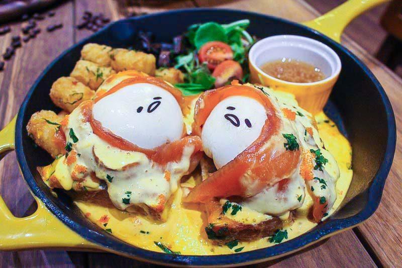 gudetama cafe eggs royale