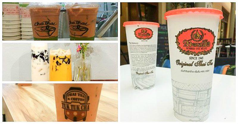 thai milk tea collage