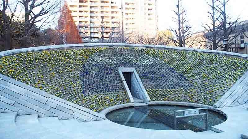 Flower Peace Monument Yokoamicho Park 2 tokyo