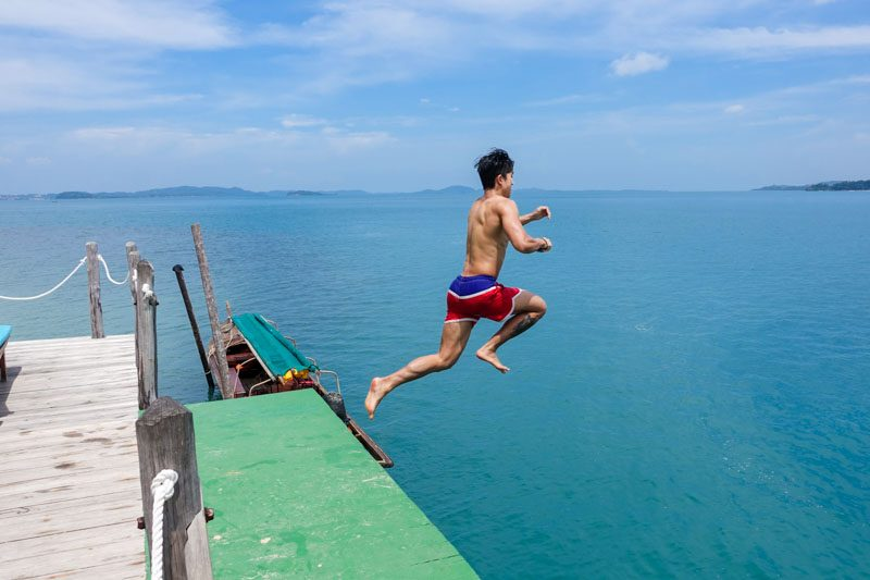 Or jetty jump. Over and over again.